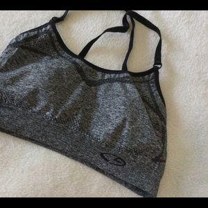 CHAMPION Sports Bralette Black/Gray Size XS Cross